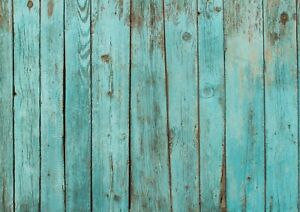 A1-Rustic-Blue-Wood-Poster-Art-Print-60-x-90cm-180gsm-Beach-Decking-Gift-15014