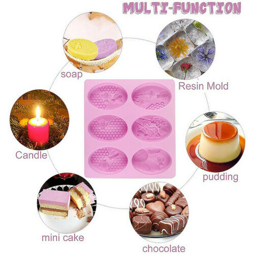 Honeycomb Silicone Mould Soap Candle Cake Chocolate Homemade Craft DIY Mold
