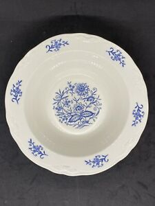Imperial-Blue-Dresden-by-Sheffield-Laughlin-9-Serving-Bowl-Vegetable-Dish-EUC