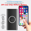 miniature 1 - Qi Wireless 500000mAh Power Bank Charging 2in1 Portable USB Battery Charger Case