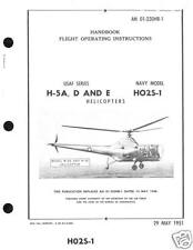 Sikorsky H-5 H02S1 (R-5, S-51 HO2S-1 HO3S-1 S-48)HISTORIC MANUAL ARCHIVE 1950's