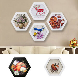 Hexagon-Photo-Frame-Wall-Mount-Hanging-Creative-Home-Family-Picture-Display-New