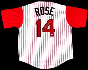 e33f9549d JSA Witness WPP COA Pete Rose Signed Autographed Baseball Jersey ...