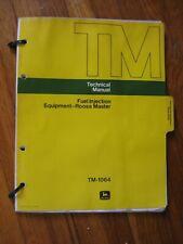 New Listingjohn Deere Roosa Master Diesel Fuel Injection Pump Technical Manual Tm 1064