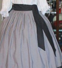 """Civil War Dress Victorian Style 100% Cotton """"Sash""""~Choice Many Colors~Plus Size"""
