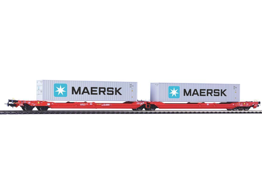 PIKO PIKO PIKO 54775 h0 tasche carrello t3000e WASCOSA CON 2 Maersk 40' contenitori EP VI cdb36a
