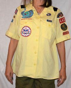Details about DEN LEADER Women's XL Official BSA Cub Scout Uniform Shirt  patches boy scout
