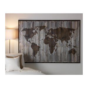 Ikea premir picture driftwood map on high quality canvas 78 x image is loading ikea premiar picture driftwood map on high quality gumiabroncs Gallery