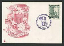 AUSTRIA MK 1952 WIEDERAUFBAU MAXIMUMKARTE CARTE MAXIMUM CARD MC CM d3311