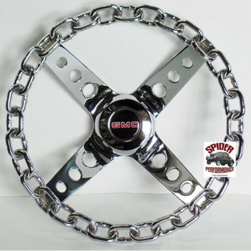 "1960-1969 GMC pickup steering wheel 11/"" Chrome Chain"