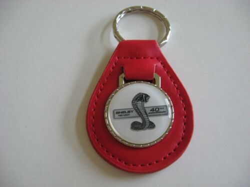 2007 SHELBY MUSTANG GT500 GT-500 40TH ANNIVERSARY KEYCHAIN KEYRING NEW RED