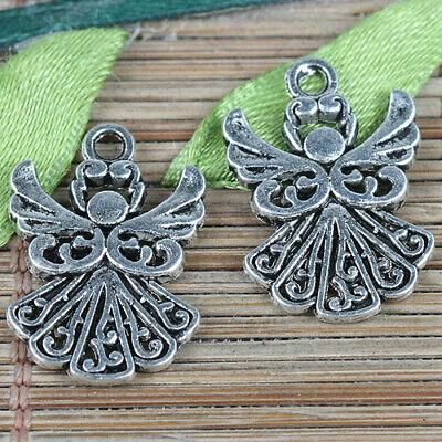 Free Ship 5//30Pcs Tibetan Silver Fairy Angel Charms Pendant Fit Bracelet 26x24mm