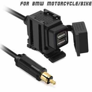 Dual-USB-Adapter-Bracket-For-BMW-Motorcycle-bike-EU-Plug-GPS-charger-Socket