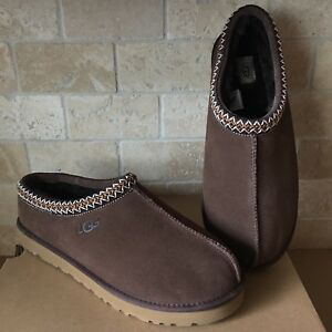94a9ae5d04e Details about UGG TASMAN BRAID CHOCOLATE BROWN SUEDE SHEEPSKIN SLIPPERS  SHOES SIZE US 14 MENS