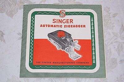 Zigzag, Zigzagger Instruction Manual 160985 for Singer Sewing Machines 221 221K.