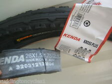 Kenda Puncture Resist / Protect cycle bike tyre 26 X 1.95 Semi Slick + tube