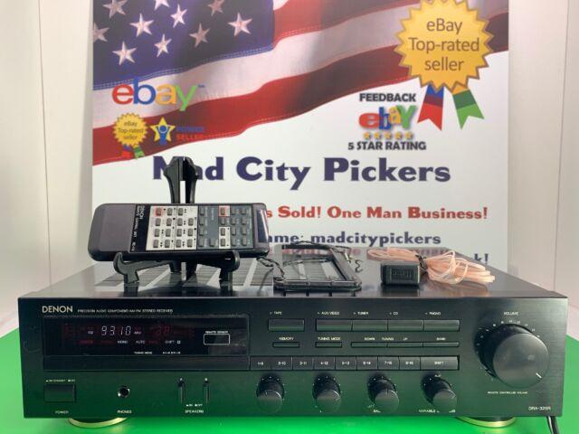 Dra-325r Stereo Remote Audio Radio Component FM Receiver Denon Bundle
