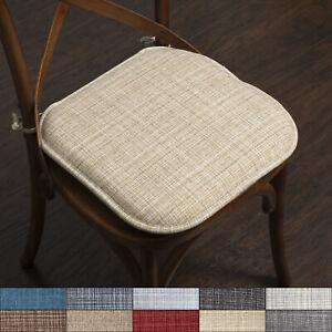 Aria Memory Foam Non Slip Chair Cushion, Memory Foam Chair Pads With Ties