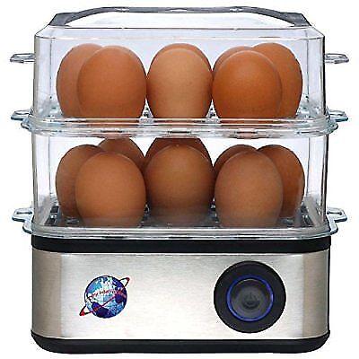Prime Qualité électrique Egg Chaudière pour 16 oeufs avec Steamer; braconnier; cuisinière; Veg