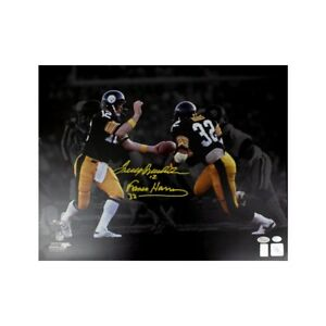 b8cde0f51ee Image is loading Terry-Bradshaw-Franco-Harris-Autographed -Pittsburgh-Steelers-16x20-