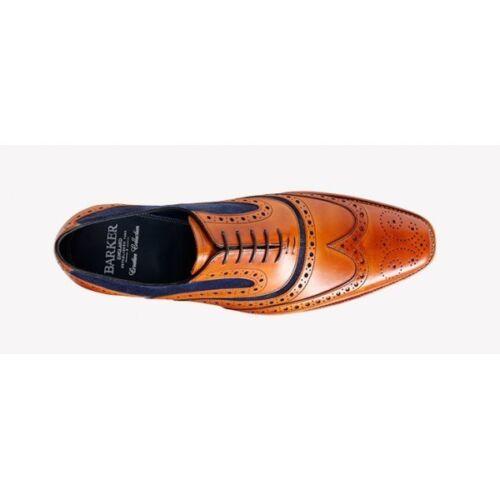 Up Blue Brogue Suede Mcclean Lace Barker Leather Shoe Cedar pTtnqY