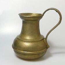 Schwerer Messing  Krug Vase Kanne 1,5 Kilo signiert (K1)