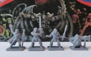 Heroquest-Heroes-Resin-models-Barbarian-Elf-Wizard-Dwarf-Mago-Barbaro-Elfo-Enano