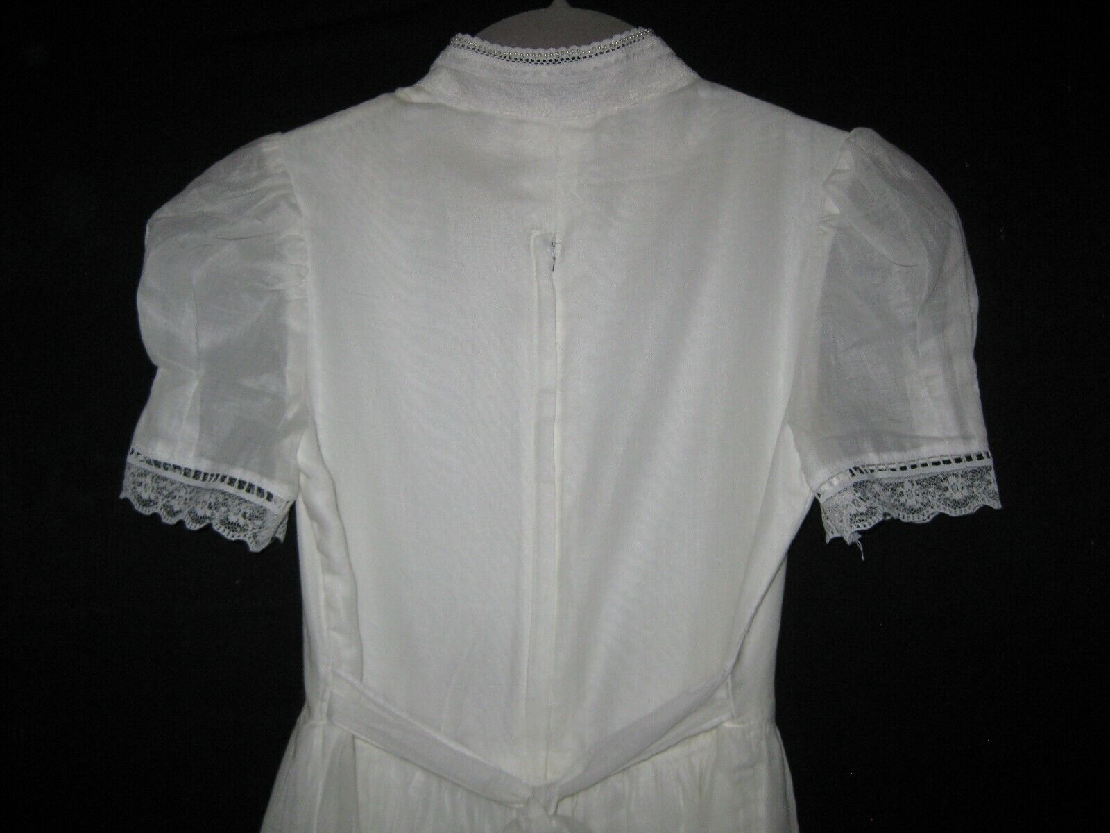 Gunne Sax White Dress Girls Size 12 Pre-Owned - image 7