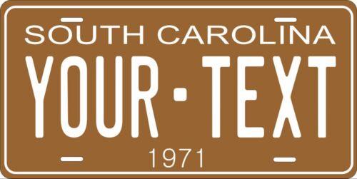 South Carolina 1971 License Plate Personalized Custom Car Bike Motorcycle Moped