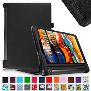official photos 17fb9 e296e Details about For Lenovo Yoga Tab 3 10-inch Folio Leather Stand Case  Sleep/Wake Cover