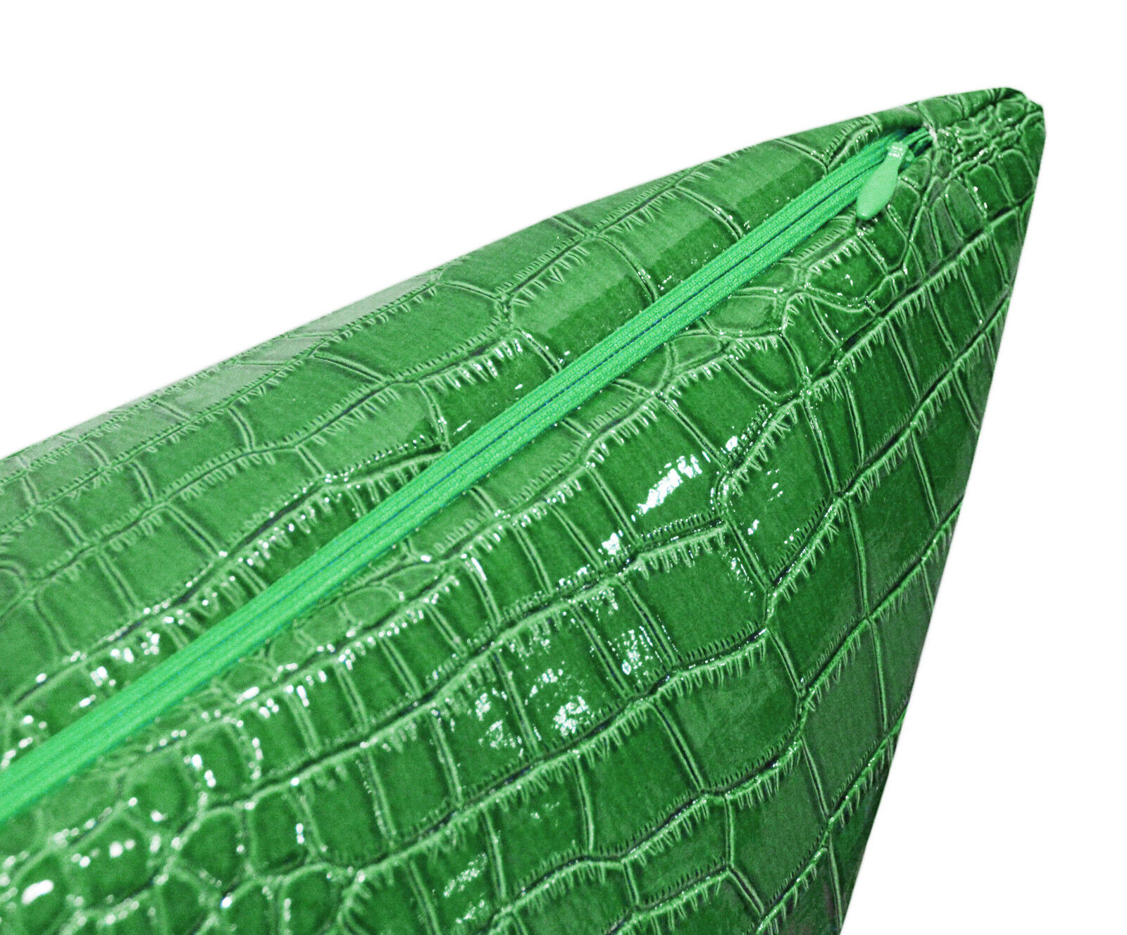 pd1017a Lime Faux Crocodile Glossy Leather Cushion Cover//Pillow Case*Custom Size