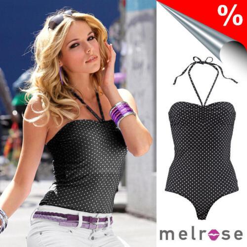 Body Melrose Schwarz-gepunktet NEU!! /%SALE/%