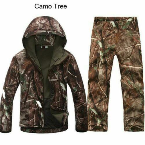 pants Waterproof Coat Thicken size 2PCS Outdoor Winter Hunting Mens Jacket Coat