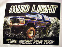 Mud Truck T-shirt 4x4 Offroad Ford Bronco Bogger White Tee Lifted Got Mud Mudder