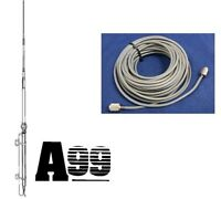 Antron 99 Cb,ham Base Antenna & 100 Ft Usa Rg8x Coax Cable 95% Shielded A99