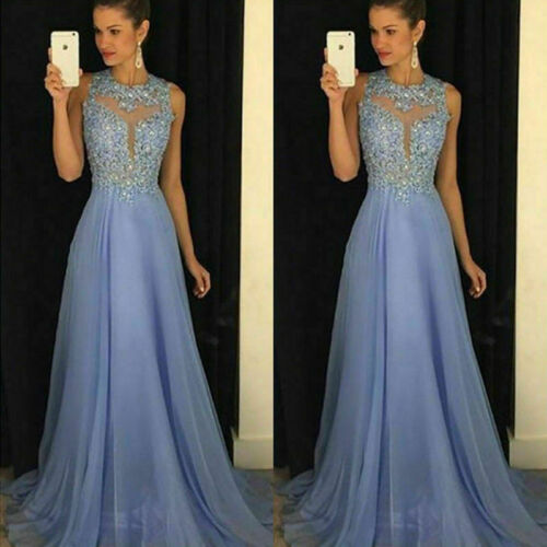 Formal Wedding Bridesmaid Evening Women Party Ball Prom Gown Long Cocktail Dress