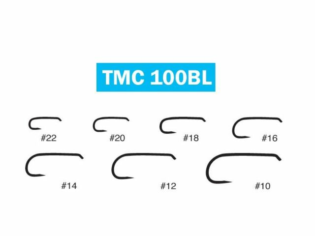 TIEMCO 100 PACK TMC2487BL SIZE 10 BARBLESS NYMPH FLY FLY-TYING HOOKS