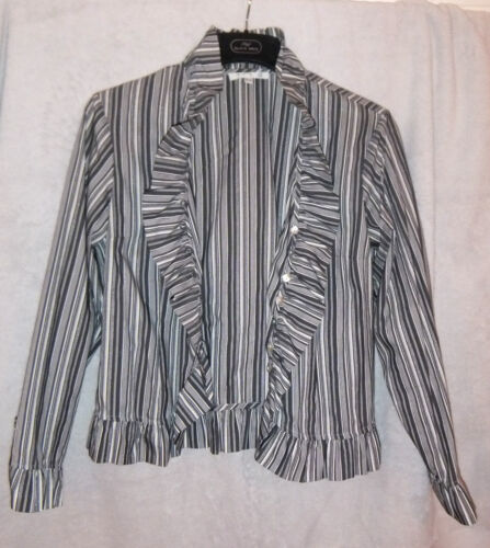 With Blouse Thread French M Silver 1 3 Uk Striped 2 By Tone Great AwqUA