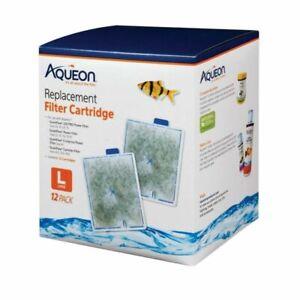 Aqueon 100106419 Quiet Flow Large Filter Cartridge - 12 Pack