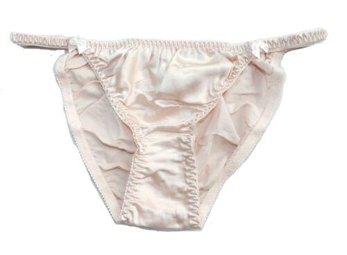 6 Pairs 100/% Pure Silk Women/'s String Bikini Panties Size S M L XL 2XL