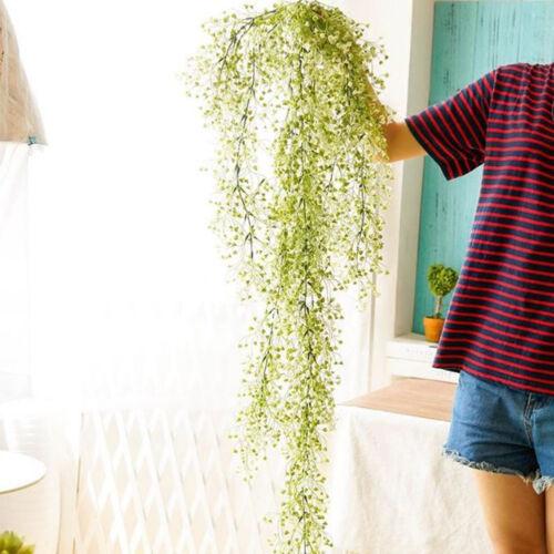 Artificial Hanging Ivy Garland Plants Vine Fake Foliage Flower wisteria Home KM