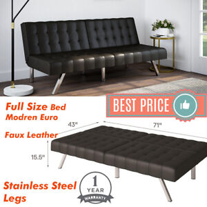 Astounding Details About Tufted Convertible Faux Leather Futon Sofa Bed Full Size Sleeper Couch Foldable Short Links Chair Design For Home Short Linksinfo