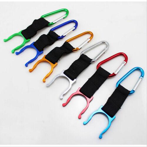 Bag Carabiner Belt Clip Water Bottle Holder Hiking Camping Snap Hook Key Chai/_OQ