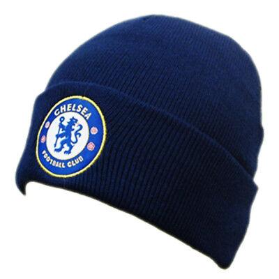 Officiel Chelsea Football Club Bleu marine Cuff Beanie chapeau d/'hiver