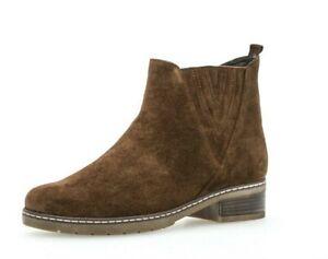 Zu Braun Details Leder Stiefeletten Gabor Stiefel Ankle Boots Chelsea Whisky UzVpSMGjLq