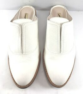 e2ca6d208fe Image is loading Louise-Et-Cie-White-Leather-Freyda-Mules-Womens-