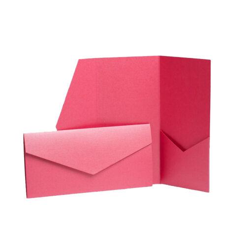 WEDDING STATIONERY Pocket Invite Wallet Cards Craft Pack Wedding invitations