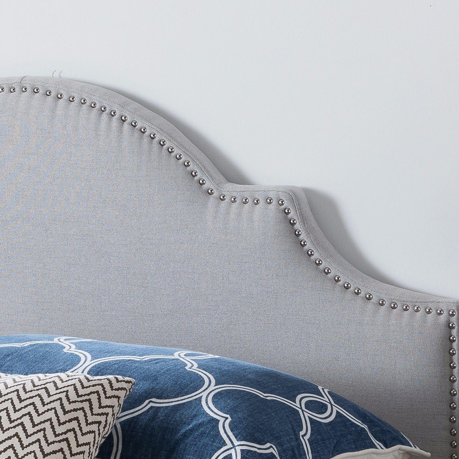 Gwenyth Studded Border Fabric Queen//Full Headboard