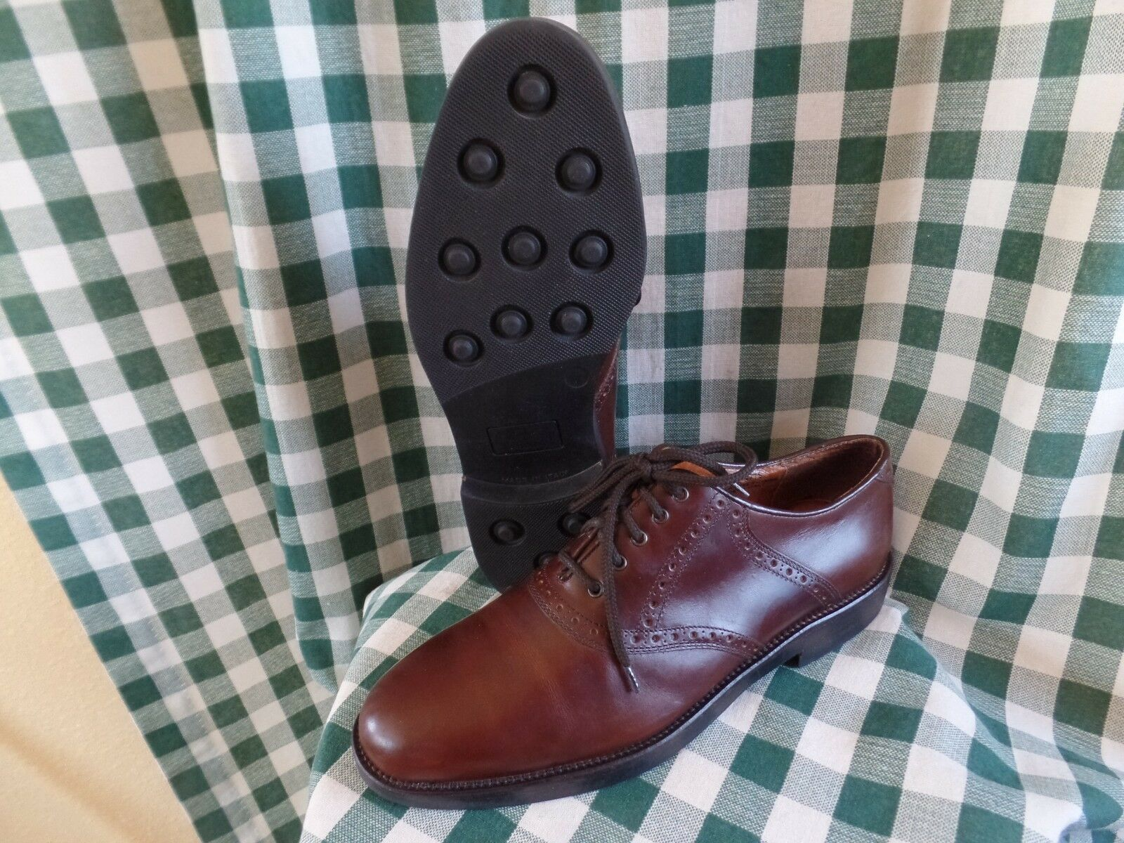 J. Murphy   Leather Oxfords shoes Brown size US 11.5 M Johnston & Murphy