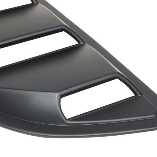 2pcs Car Side Rear Window Louvers Vent Decor Cover for Ford Mustang 2015 Black